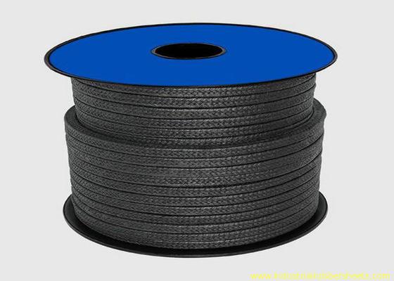 Chine Emballage noir du téflon PTFE pour la corde de matériel de cachetage/d'emballage glande de graphite distributeur