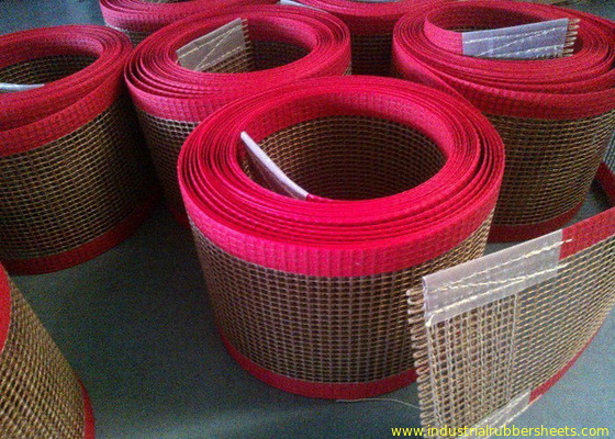 Chine PTFE polyester mesh fabric , PTFE polyester mesh fabric for conveyor belt / griddling cloth, made by PTFE coated usine